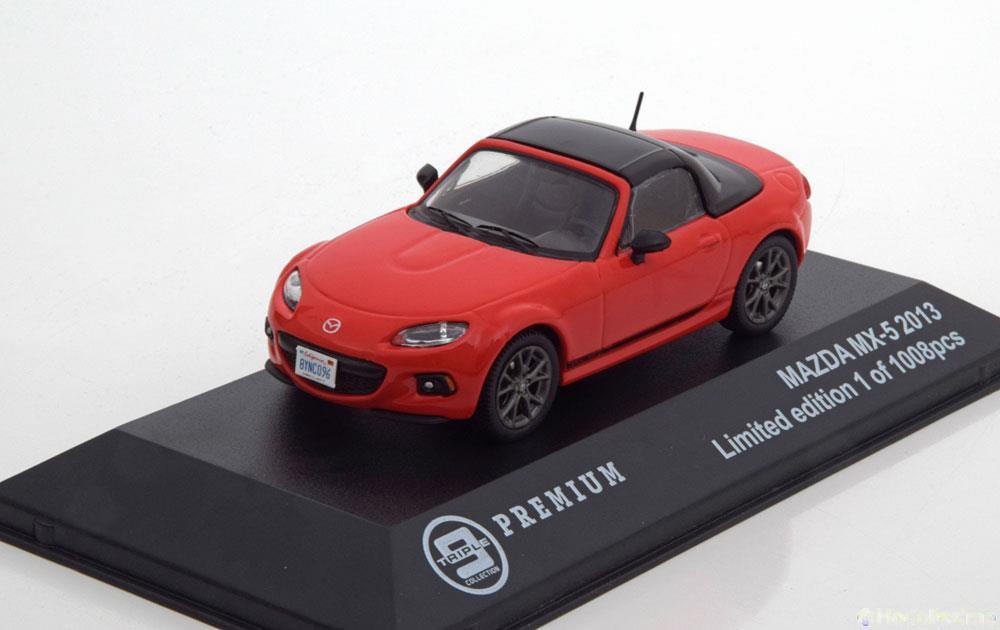 Mazda MX-5 rot 2013 1:43 Triple 9  Modellauto 10003